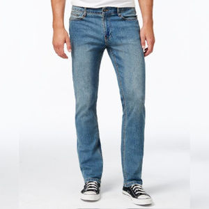 Ring of Fire Men's Straight Fit Stretch Jeans